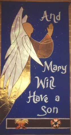Advent Angel Banner, North Salem Lutheran Church, Upper Sandusky, OH