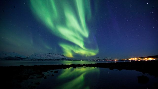 Here's something to put you in wintry spirits. Photographer Tor Even Mathisen has captured this gorgeous time-lapse footage of Aurora Borealis over Tromsø, Norway. The music by Per Wollen and Silje Beate Nilssen makes this video all the more glacial.