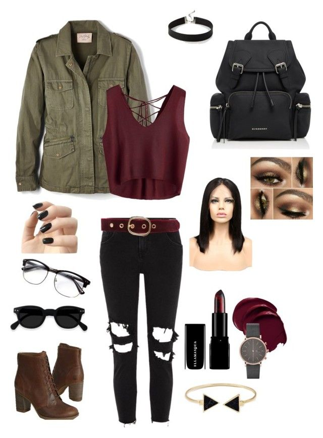"""Aaliyah (Contemporary Look)"" by brielle-carroll on Polyvore featuring Velvet by Graham & Spencer, River Island, Burberry, Timberland, Express, Ann Taylor, Incoco, Skagen, WithChic and modern"