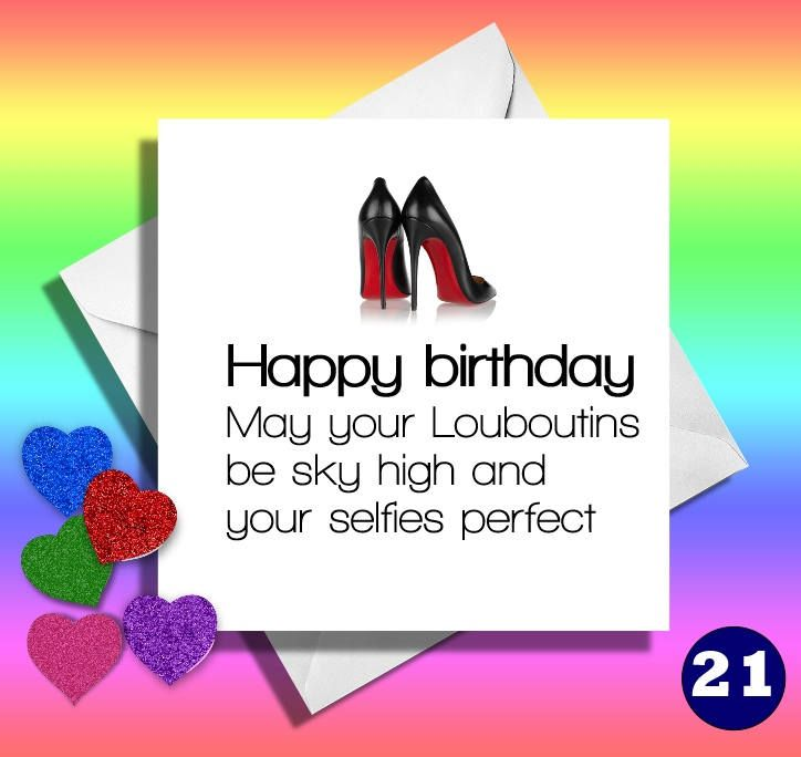 May Your Louboutinsreally Funny Greeting Cards Cardsfunny Birthday Friendjokey Cardhilarious By LOLcardshop On