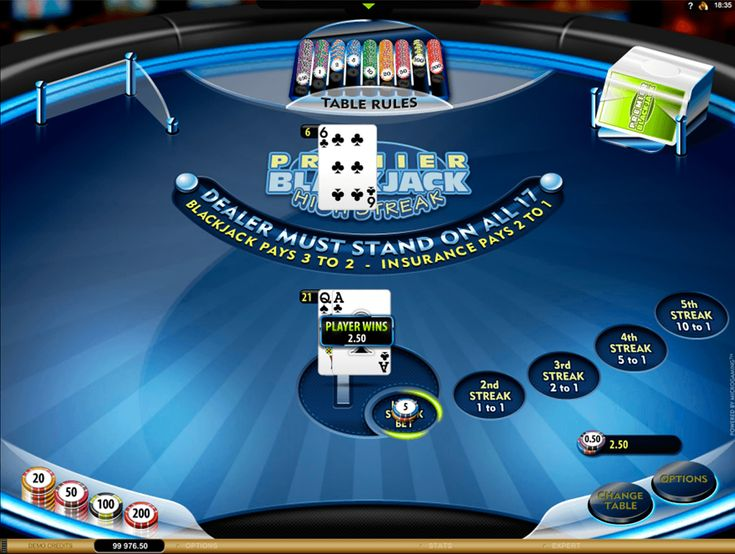 The players are offered to play the Premier High Streak Blackjack from the Microgaming gaming company. There are extra bets and 2 traditional decks of cards it's no jokers in them. The size of the main wager varies from C$5 up to C$1000, but the maximum amount of the side bet is limited by C$200. See how great is to beat the dealer and win money.