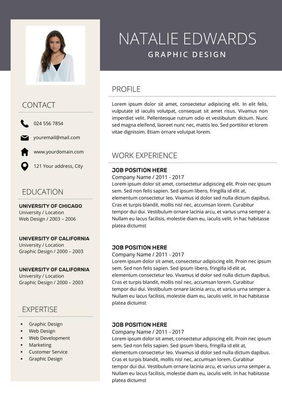 Creative Resume Template Cv Template For Ms Word And Pages Etsy Creative Resume Modern Resume Design Creative Resume Templates