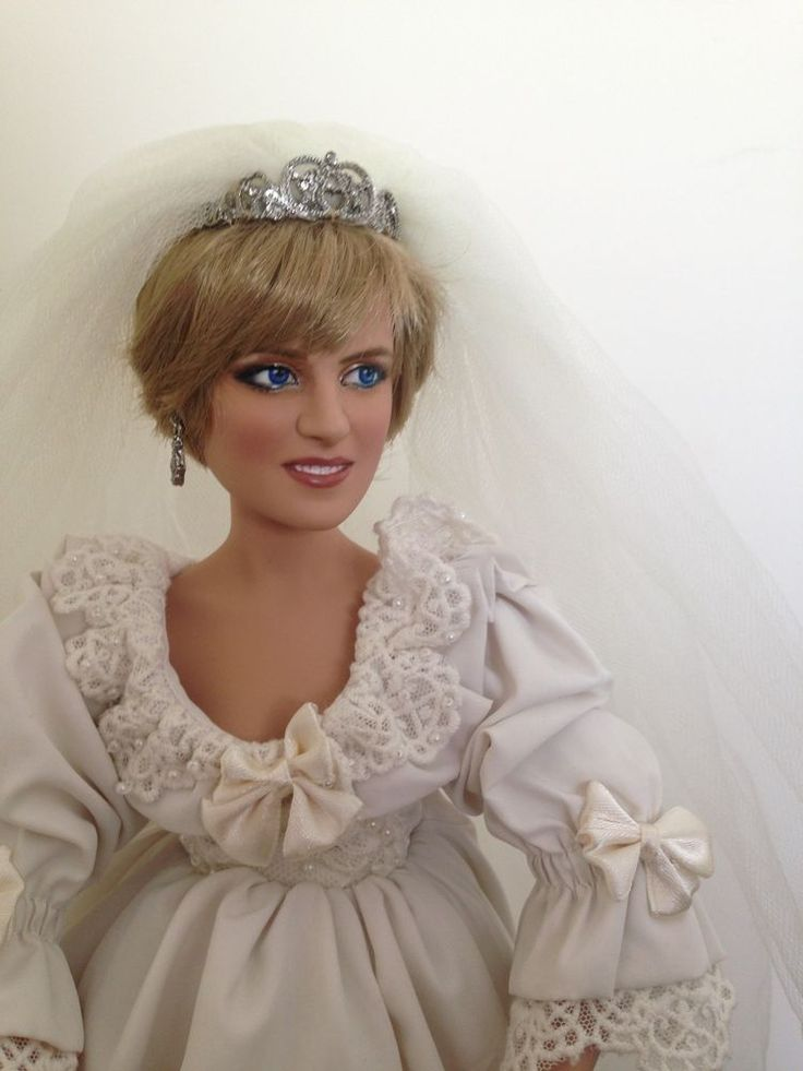 Ashton Drake Princess Diana Porcelain Wedding Doll Repainted | cute ...