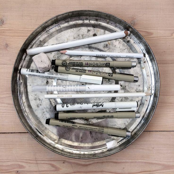 Drawing tools. Pencil drawing. Sketch. By Johanna Sandberg.