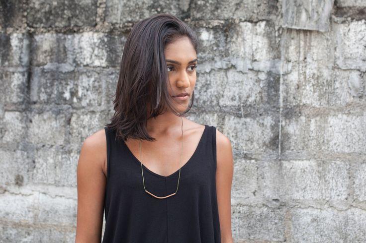 Minimalistic Ninalu Copper Tube Necklace Bent  Minimalistic Jewellery Ninalu  #ninalu # jewellery #minimalisticjewellery # minimalistic #minimalisticjewelry