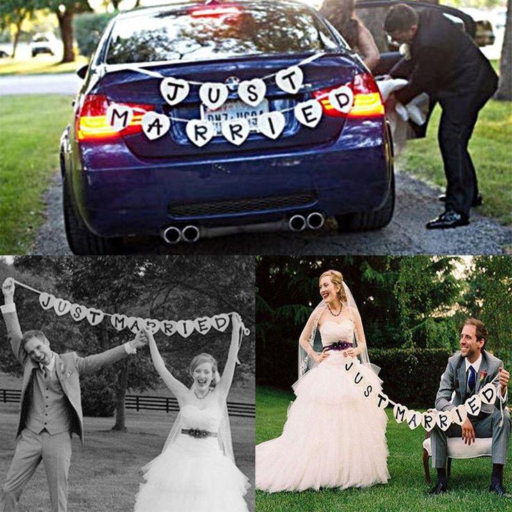 Romantico Just Married Garland Wedding Banner Auto Bunting Occidentale Venue Decorazione #71304 in caratteristiche:Brand new e di alta qualità.essere perfetto come una fotografia prop al tuo matrimonio.essere una da Striscioni e Bandiere su AliExpress.com | Gruppo Alibaba