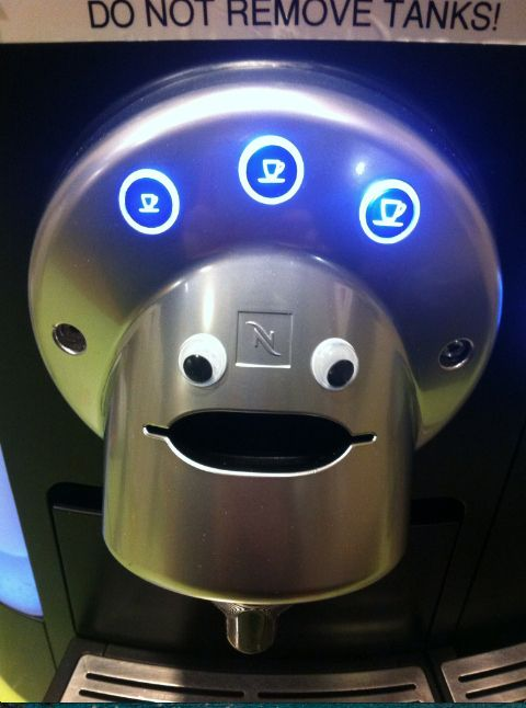 Coffee makers: | 40 Pictures That Prove That Everything Is Better With Googly Eyes