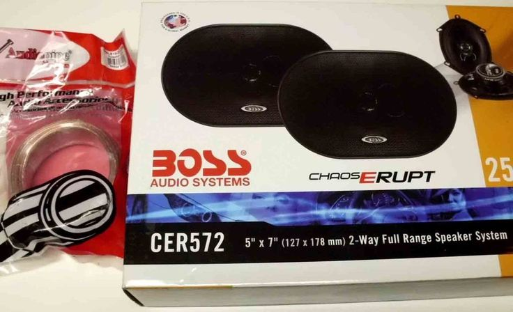 "Boss Audio CER572 5""x7"" 2-Way Car Speakers 250W   + 25' 18 GA Speaker Wire  #BossAudio"