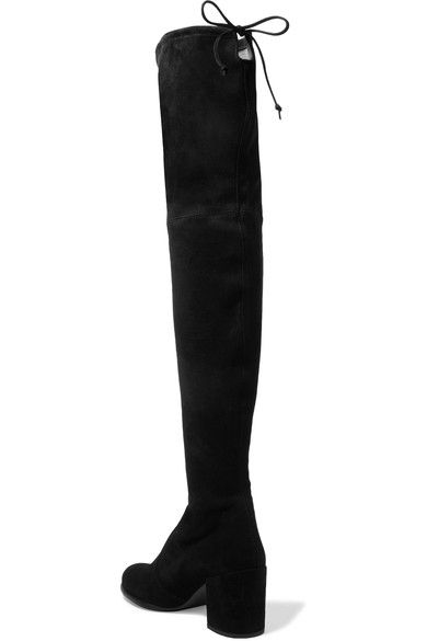 Stuart Weitzman - Tieland Suede Over-the-knee Boots - Black