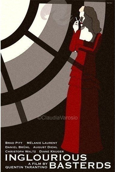 Inglourious Basterds (2009) - Minimal Movie Poster by Claudia Varosio #minimalmovieposter #alternativemovieposter #claudiavarosio