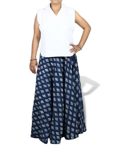 Long Gypsy Skirt Maxi Blue Block Print Cotton Summer Dresses Women Size L ShalinIndia,http://www.amazon.com/dp/B00CC7LY18/ref=cm_sw_r_pi_dp_NEeHtb0CEXM8NE0M
