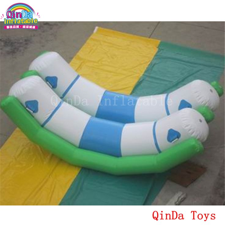 Water sports game inflatable seesaw toys for pool, 3m inflatable double seesaw with free air pump