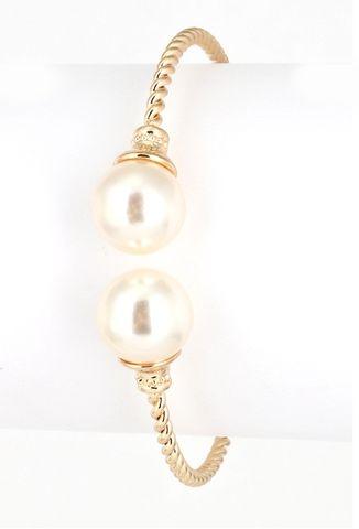 Gold Pearl Cuff