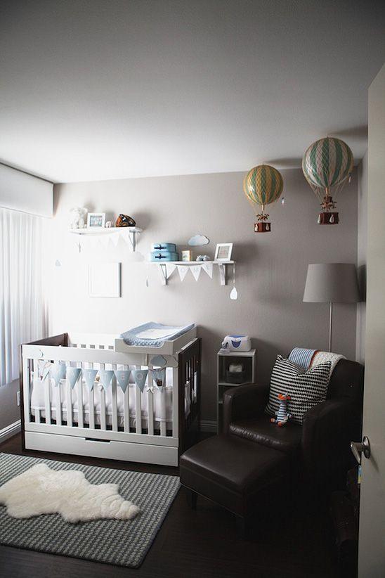 Travel Inspired Nursery - i LOVE the hot air balloons!