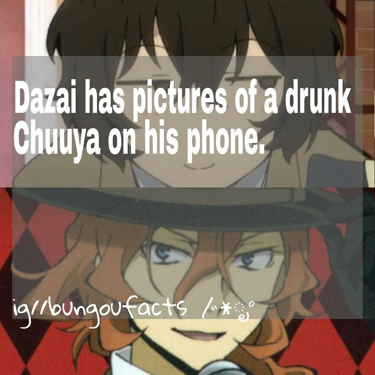 "Polubienia: 229, komentarze: 37 – Bungou Stray Dogs | m/w valo (@bungoufacts) na Instagramie: ""❀ Qotd: Favorite ability? ──────────────────── I can just imagine Chuuya drinking and Dazai just…"""