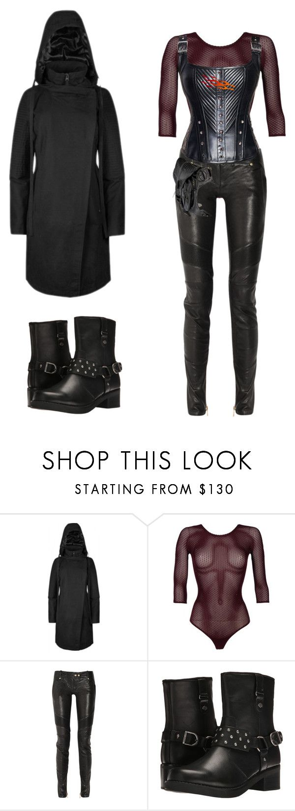 """""""ignis"""" by mangaddict on Polyvore featuring Wolford, Balmain and Harley-Davidson"""
