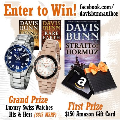 Celebrate the release of STRAIT OF HORMUZ with me! Enter the sweepstakes at woobox.com/ipi8wk or at https://www.facebook.com/davisbunnauthor