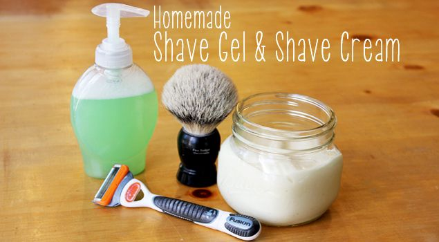 Make Your Own Shaving Cream or Shaving Gel...perfect gift for Dad! :-)