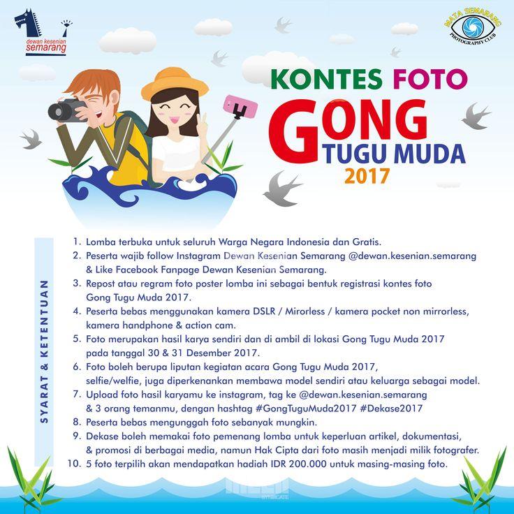 """Design for """"Kontes Foto Gong Tugu Muda 2017""""  © 2017 @bleedsyndicate"""
