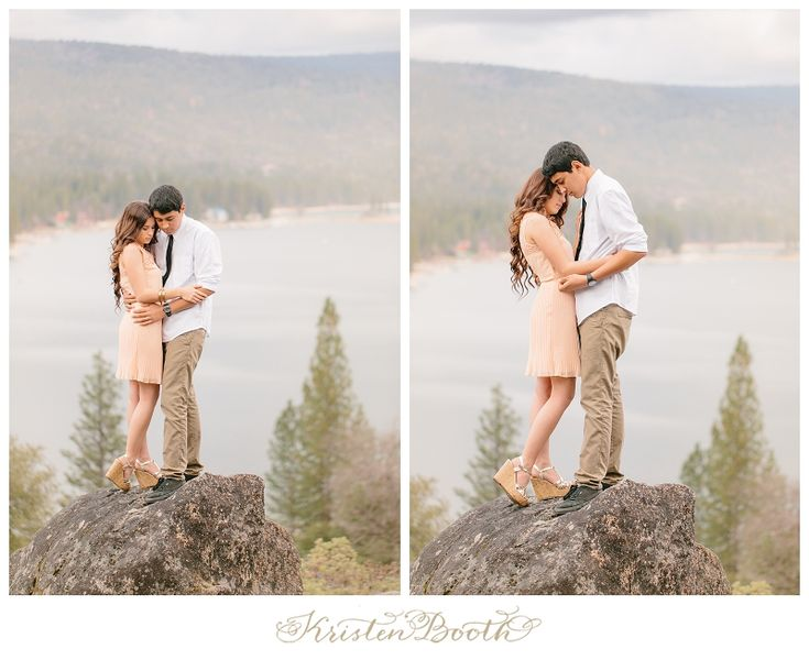 {Amy and Jordan} Twilight Love | Dreamy Lake Engagement Photos Elbow hold...
