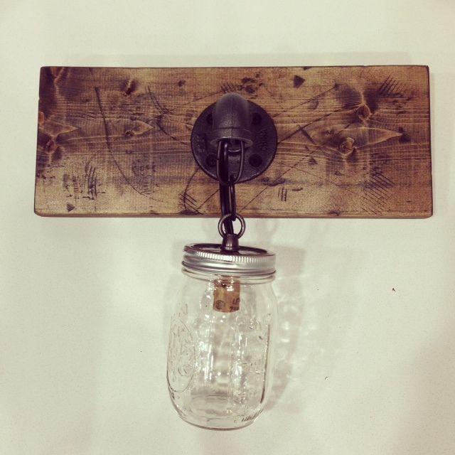 70 best diy images on pinterest mason jar light fixture for Rustic barn light fixtures