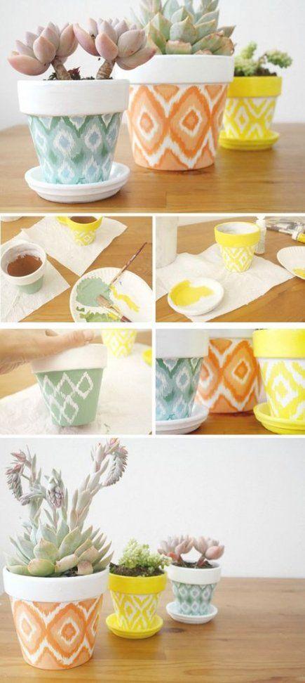 Plant Pot Painting Ideas Geometric
