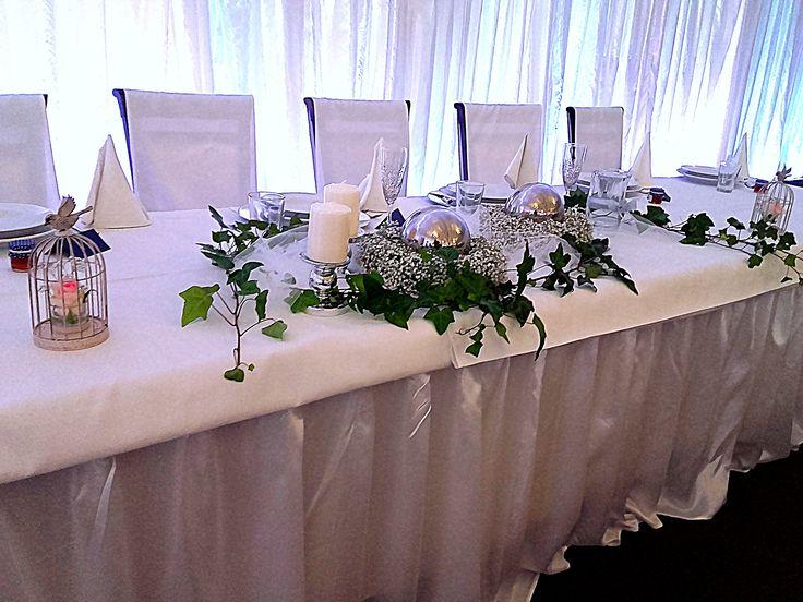 Ivy decoration, wedding, baby's breath decoration, bluszcz, gipsówka