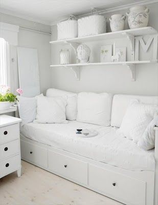 I can see a teenage girl loving this as a bedroom.....#white... I can see it as a corner of a studio or even laundry...