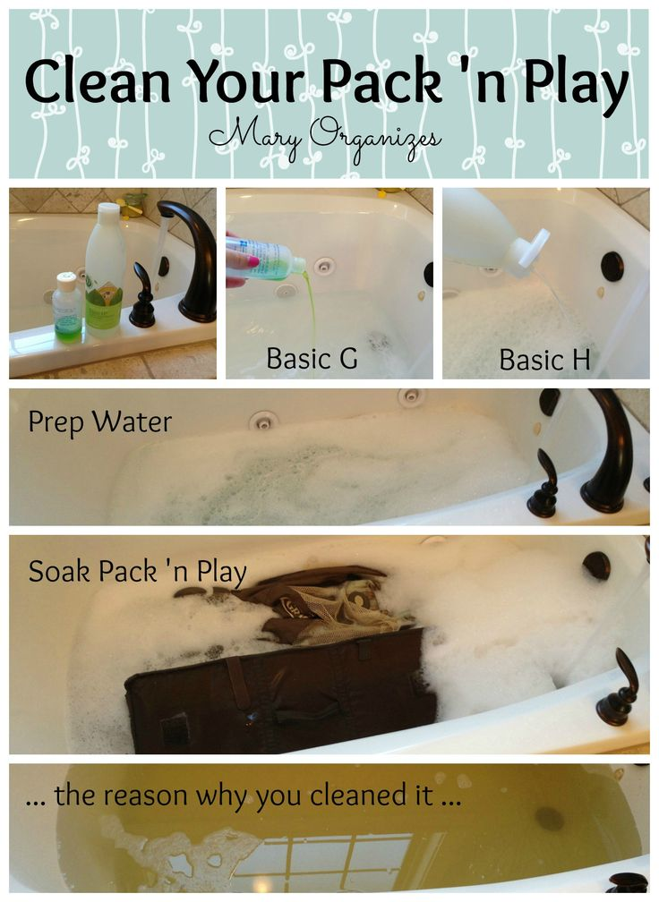 Just did this and wow am I ever glad I did! The pack 'n play looked virtually unused but the water told otherwise!! I used homemade laundry detergent, vinager and a bit of burts bees baby shampoo for a fresh baby scent.