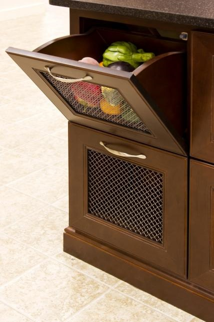 vegetable bin tilt with wire mesh cabinet accessories maryland kitchen cabinets llc - Maryland Kitchen Cabinets