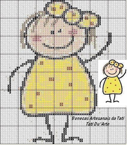 Boneca palito amarela | Flickr - Photo Sharing!