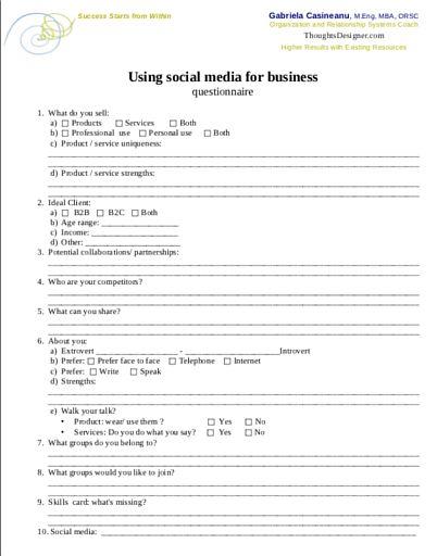 social media usage questionnaire pdf