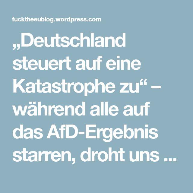 """""""Deutschland steuert auf eine Katastrophe zu"""" – während alle auf das AfD-Ergebnis starren, droht uns von der neuen Regierung ein ganz anderes Desaster – Fuck the EU"""