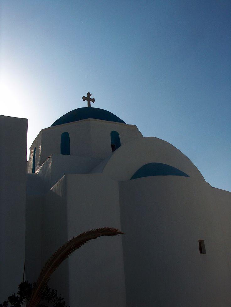 blue roof church