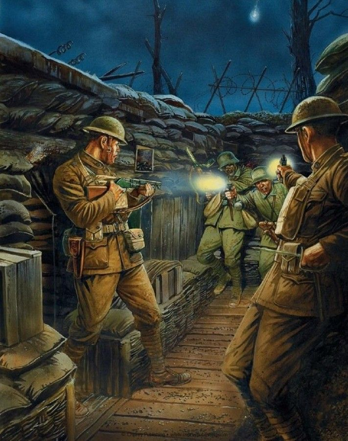 Image result for wwi trench warfare raids