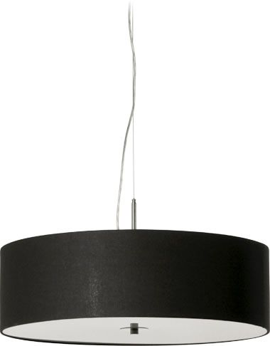 Candice 650mm 4 Light Pendant - Black Linen, Pendants, Contemporary, New Zealand's Leading Online Lighting Store