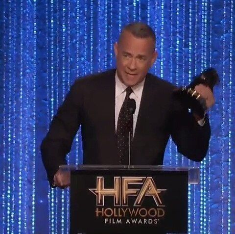 "Tom won a ""Hollywood Film Award"" for Sully last night!❤👏 .. .. #tomhanks #cute #perfect #award #hollywood #lastnight #awesome #deserved #best #actor #my #fav #lovehim #loved #movie #sully #speech #followme #ifb #f4f #3k #followers #fans #fanpage"