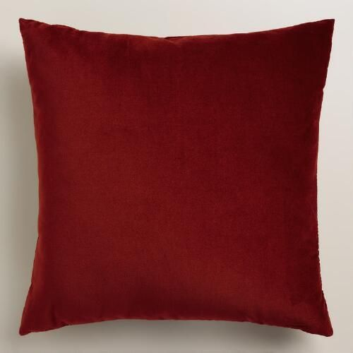 One of my favorite discoveries at WorldMarket.com: Classic Red Velvet Throw Pillow