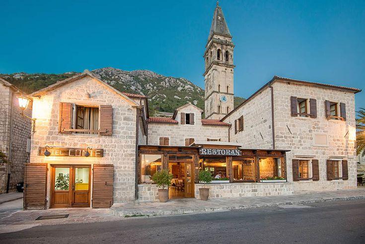 www.montenegropulse.com - Hotel Conte is a beautiful seaside restaurant in the UNESCO protected town of... Perast....MONTENEGRO