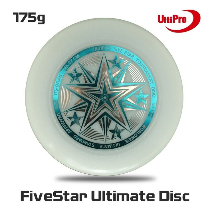 Free Shipping 175g Professional  Ultimate Disc UltiPro Ultimate Frisbee Fivestar Night Glow