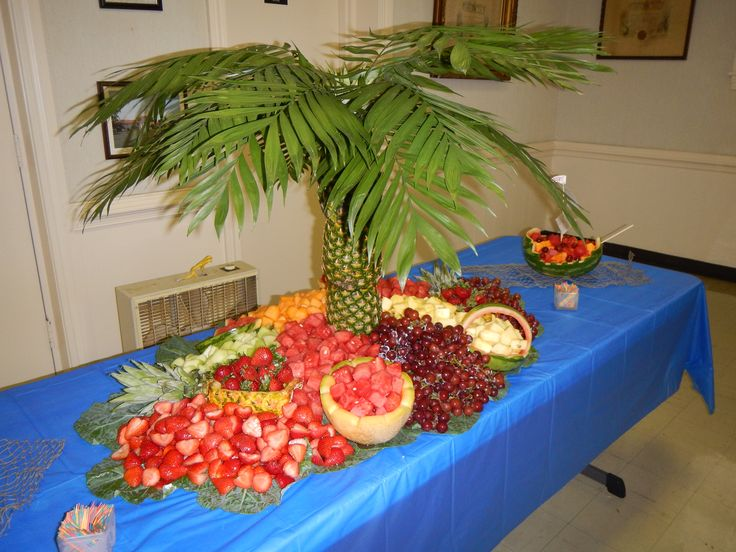 Pineapple Tree Fruit Table Party Ideas Pinterest