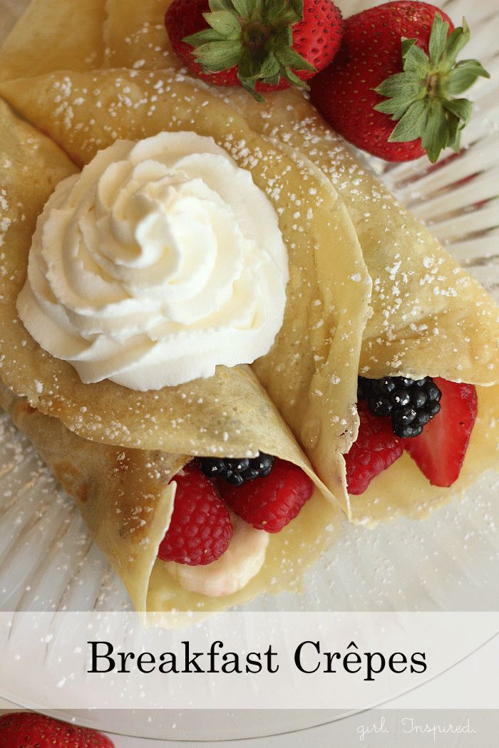 Easy Breakfast Crepes Recipe - these are delicious!
