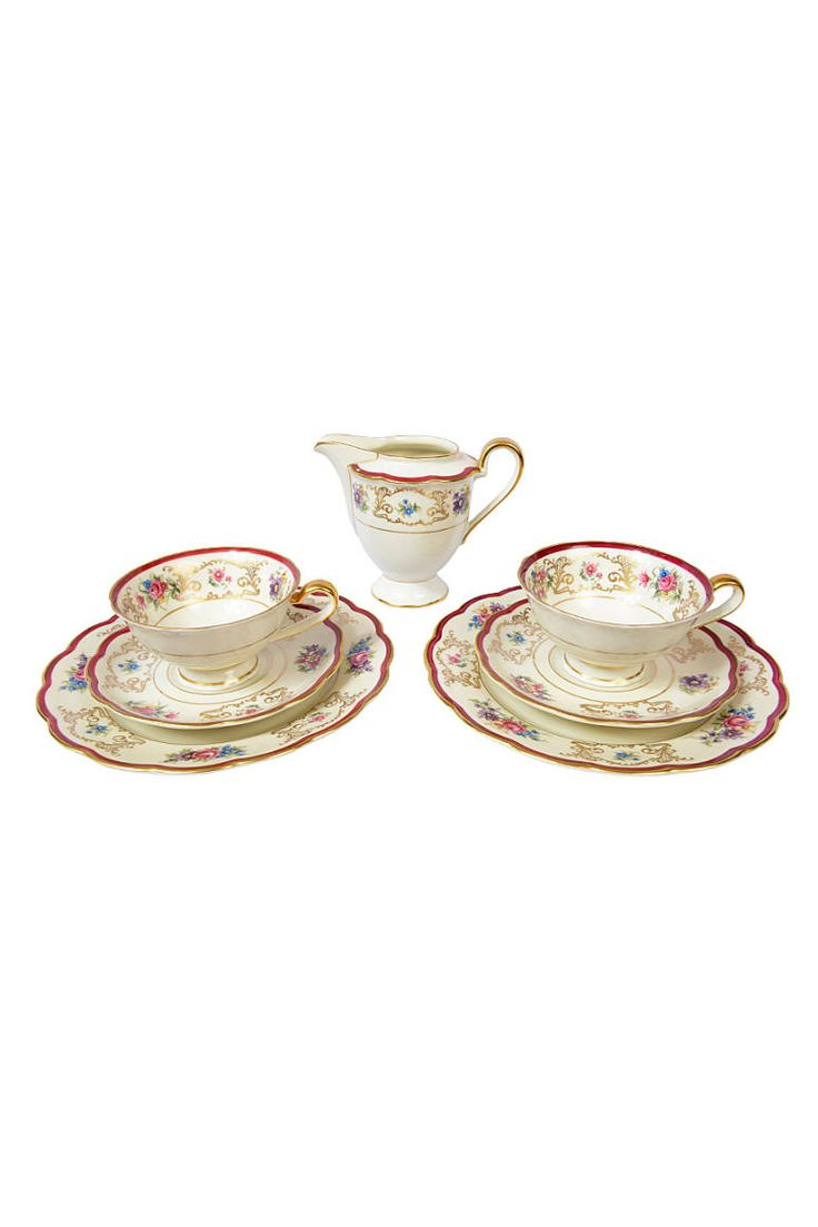 20'ler Royal Bayreuth Tettau Vintage Fincan Takımı - 20's royaş bayreuth tettau vintage cup set