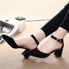 Resultado de imagen para zapatos de tacon grueso