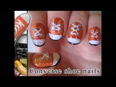 CUTE!!!   Converse shoe nails
