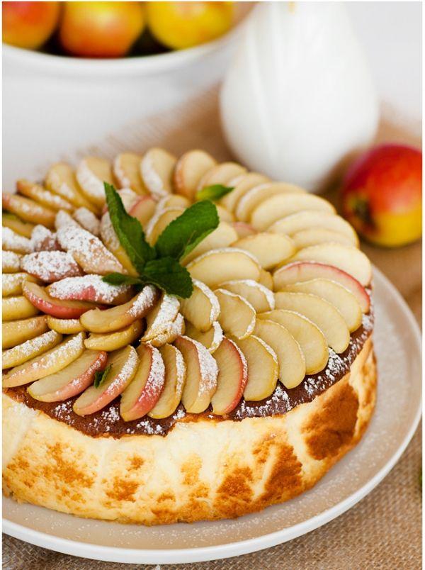 Яблочный чизкейк.