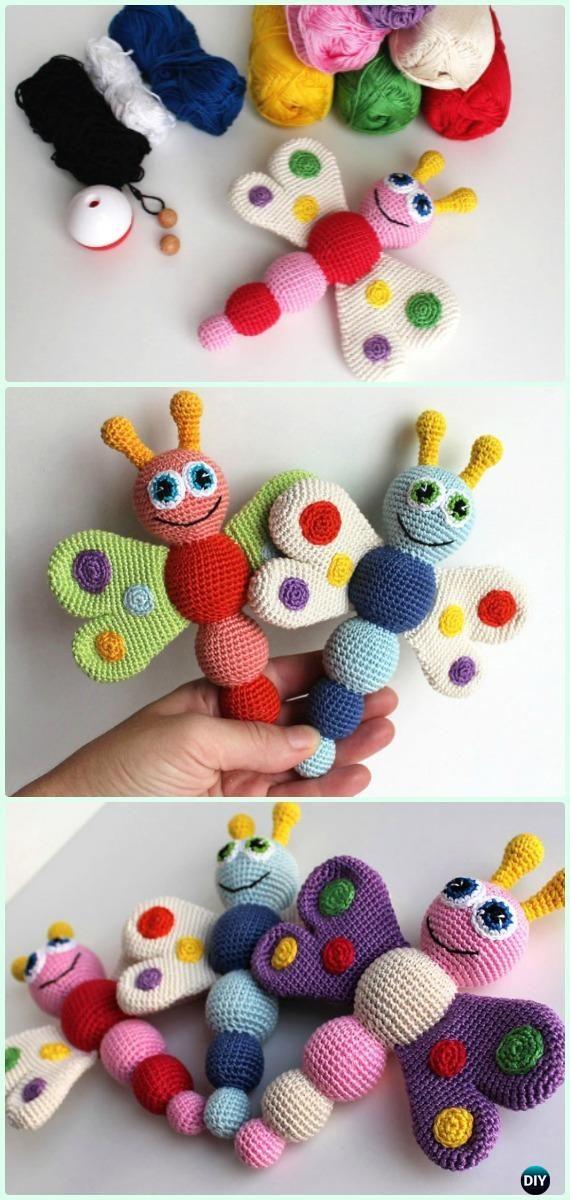 Crochet Amigurumi Butterfly Free Pattern - Crochet Amigurumi Little World Animal Toys Free Pattern