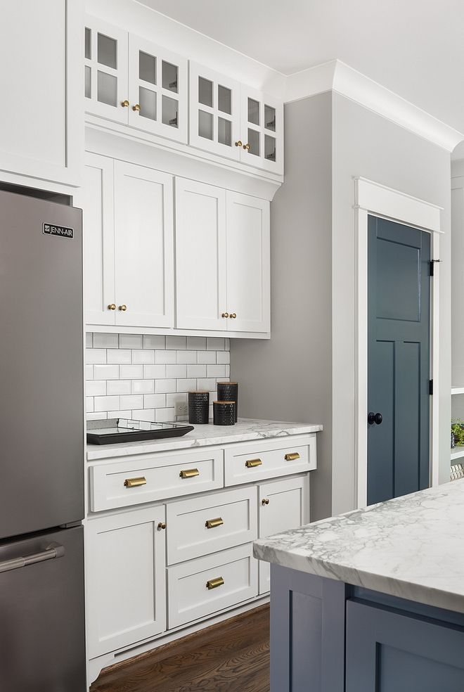 Kitchen Features Custom Cabinets And With Shaker Style Doors And Drawers With Soft Close Kitche Painted Pantry Doors Interior Door Colors Rustic Doors Interior