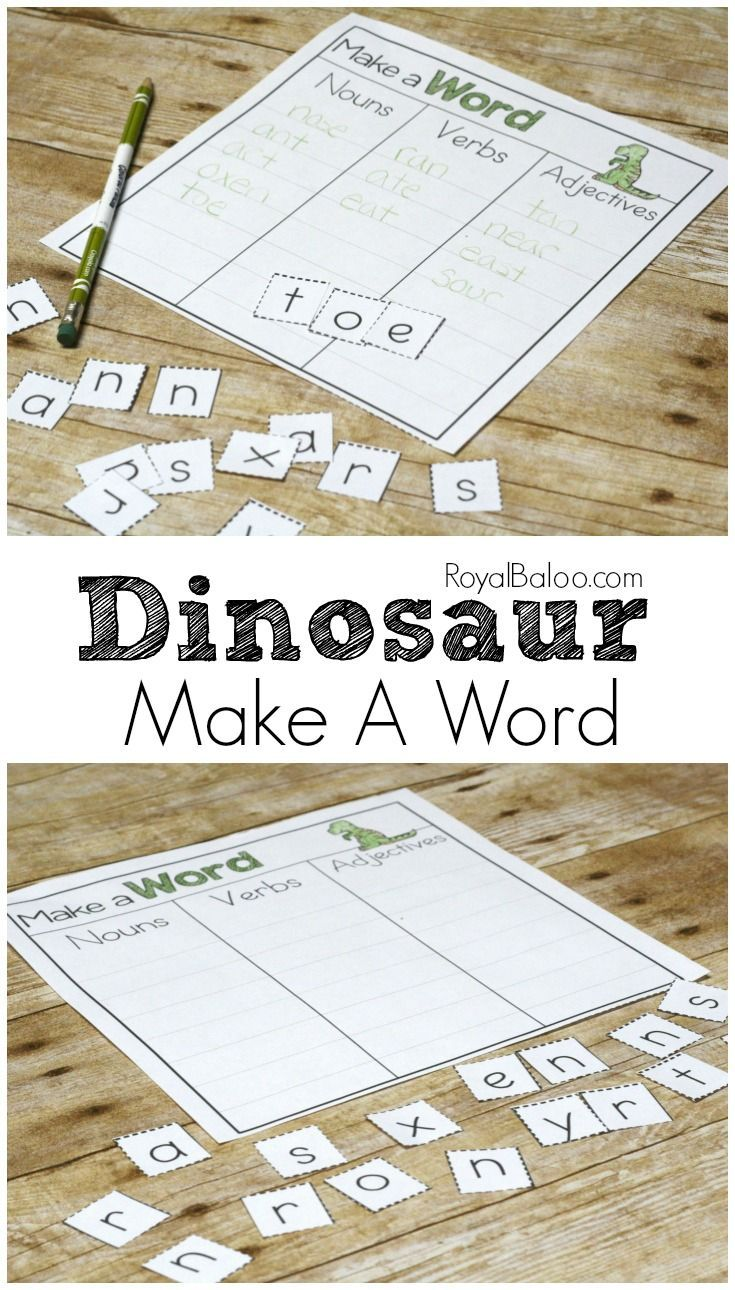Have fun making words with these long dinosaur names.  Dinosaur Make a Word is great for practicing scrabble skills too.
