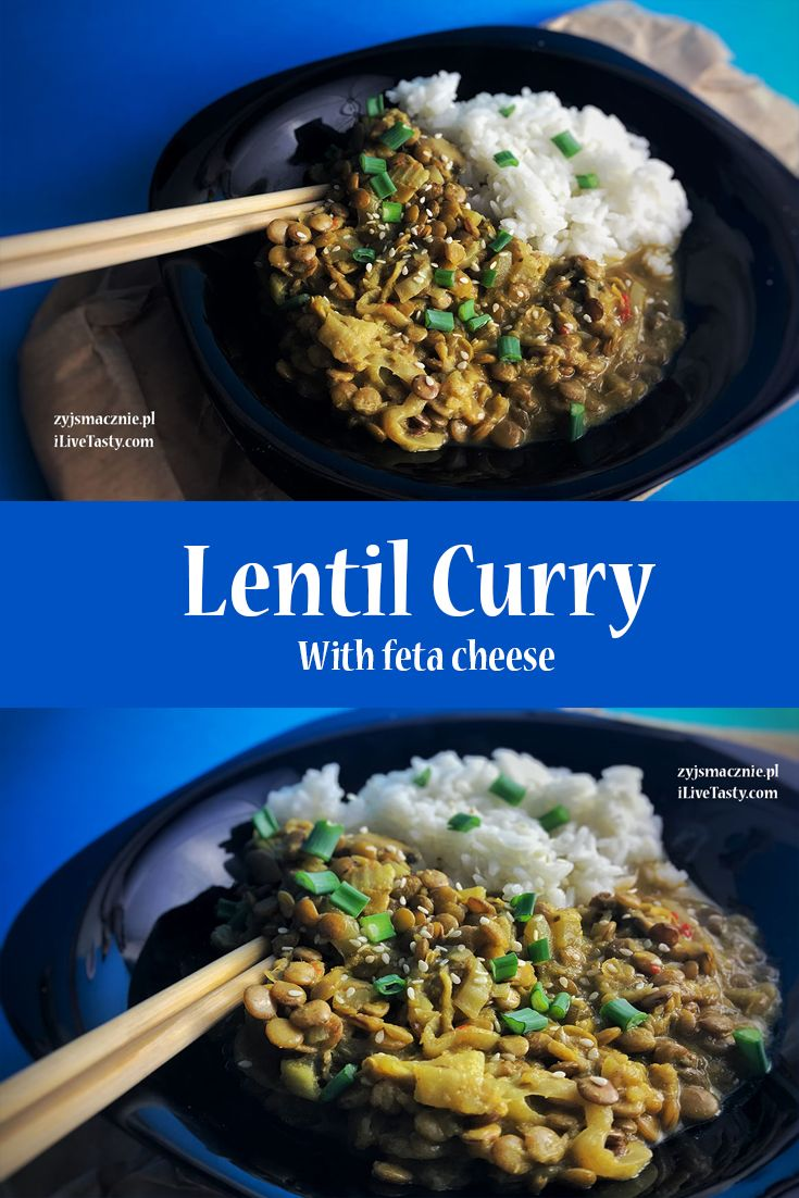 Lentil curry with feta cheese recipe!